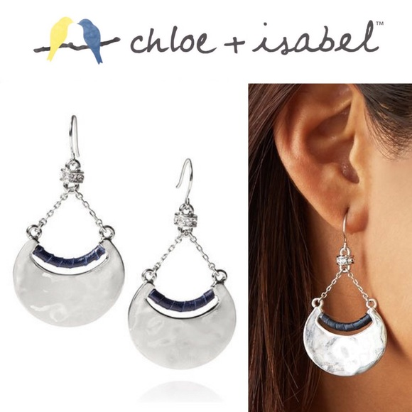 Chloe + Isabel Other - 🆕 Hero Metal + Leather Crescent Earrings c+i E363